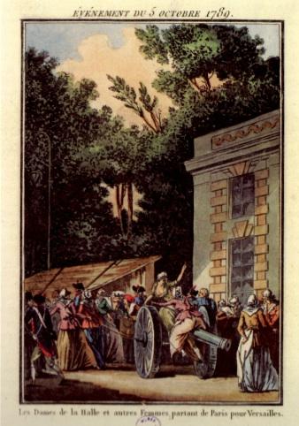Les Dames de la Halle partent pour Versailles (Janinet)