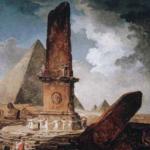Obélisque brisé autour duquel dansent des jeunes filles. 1798. Huile sur toile. H. 120; l. 99 cm. Montréal, musée des Beaux-Arts, legs Lady Davis © Musée des Beaux-Arts de Montréal, Brian Merrett
